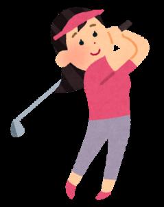 ゴルフしてる女性